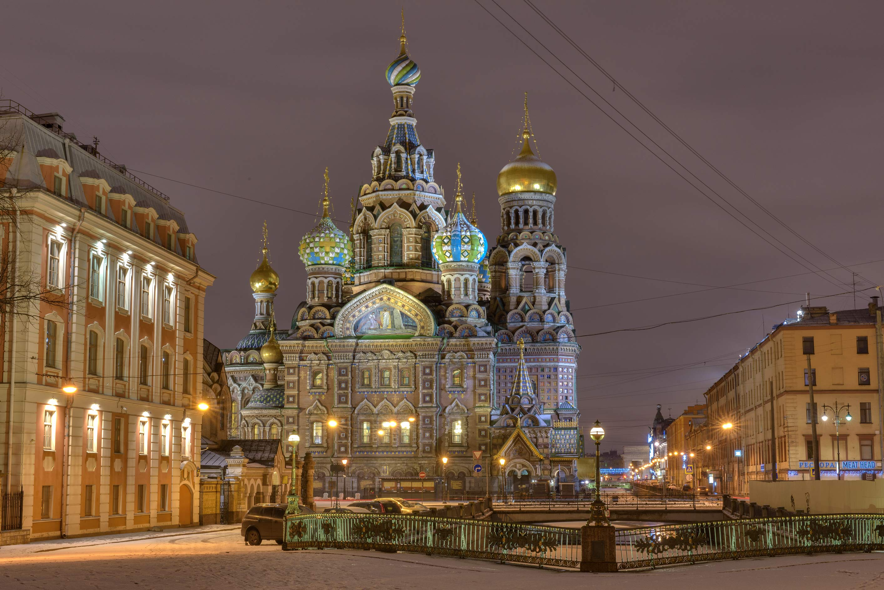 Church of Savior on Blood from Malo-Koniushenny Bridge. St.Petersburg, Russia