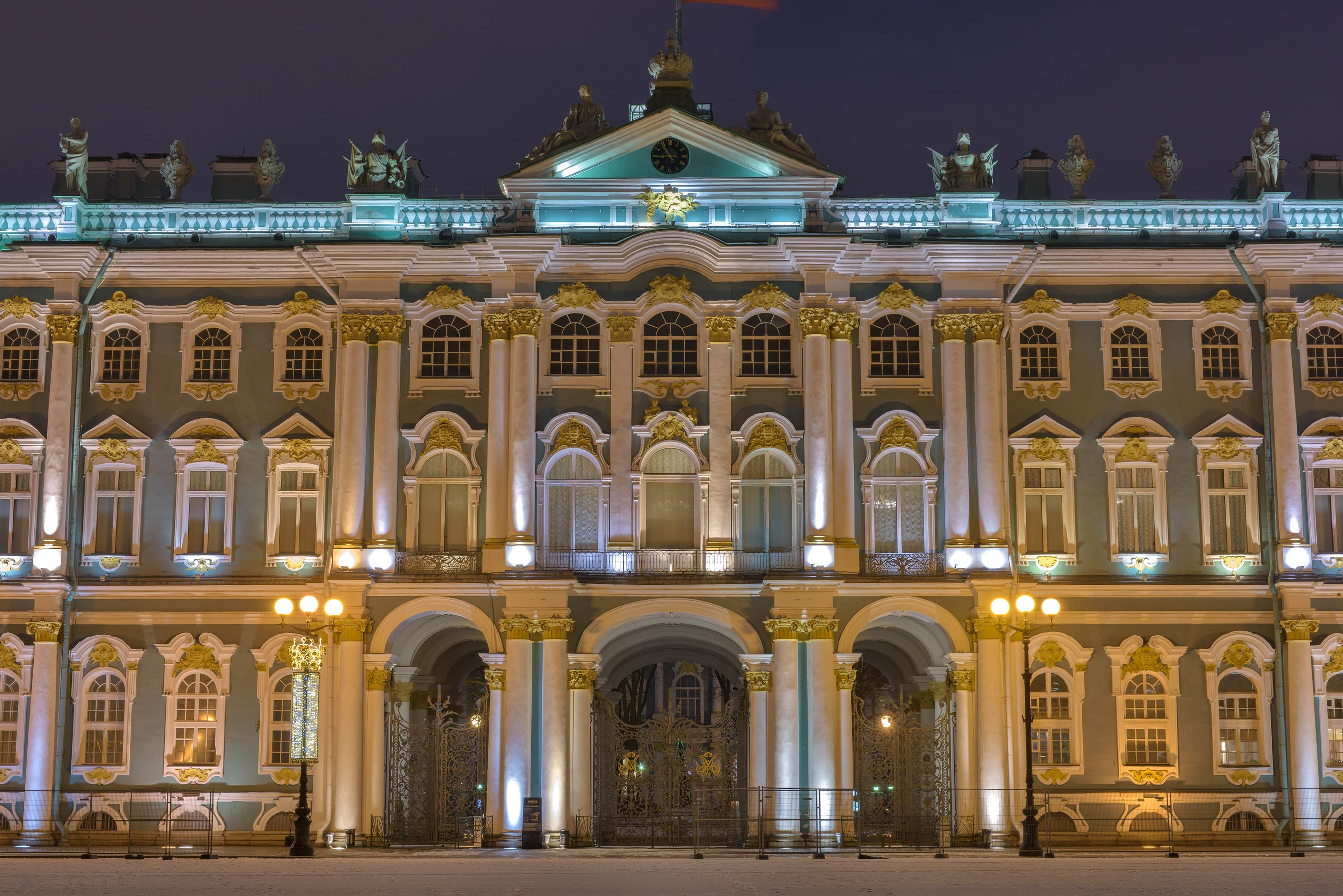 Winter Palace (Hermitage) from Dvortsovaya Square. St.Petersburg, Russia