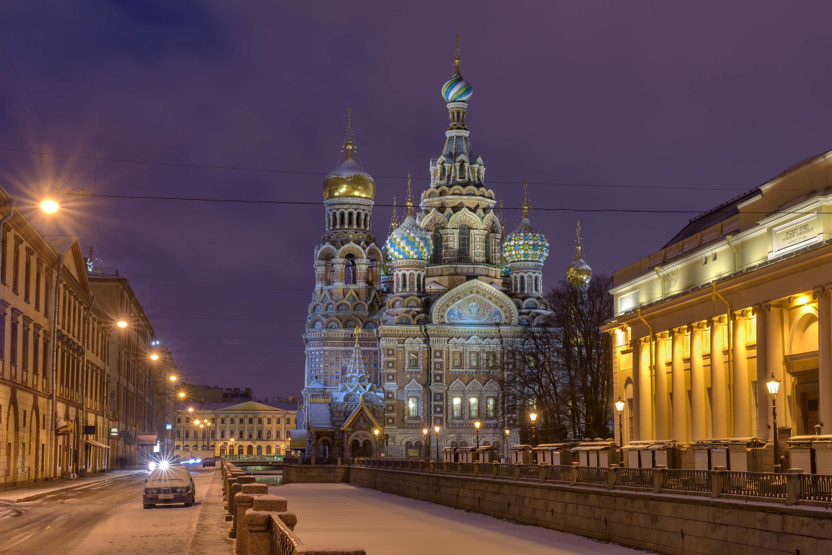 Griboedova Canal and Church of Savior on Blood. St.Petersburg, Russia