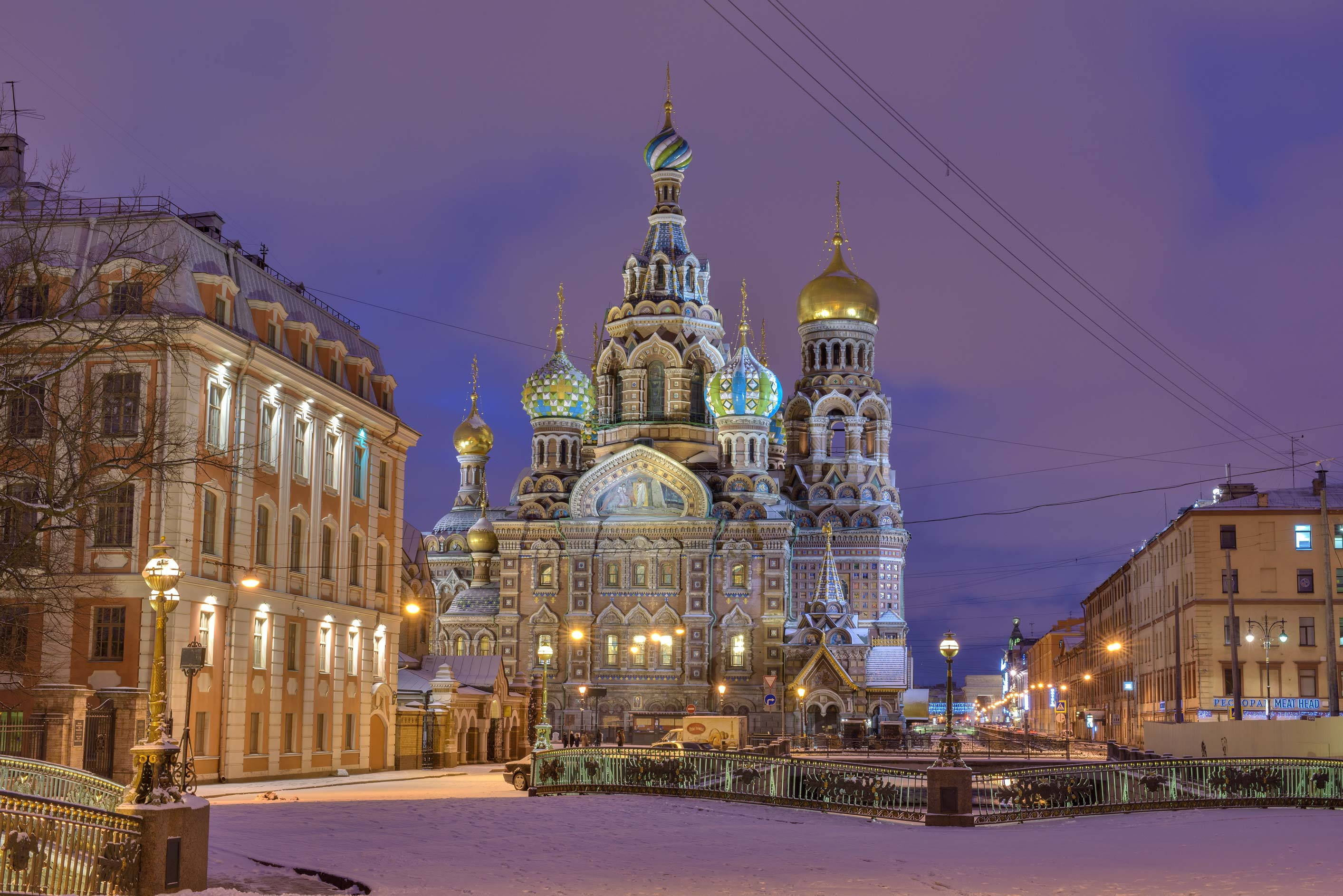 Church of Savior on Blood from Malo-Konyushenny Bridge. St.Petersburg, Russia