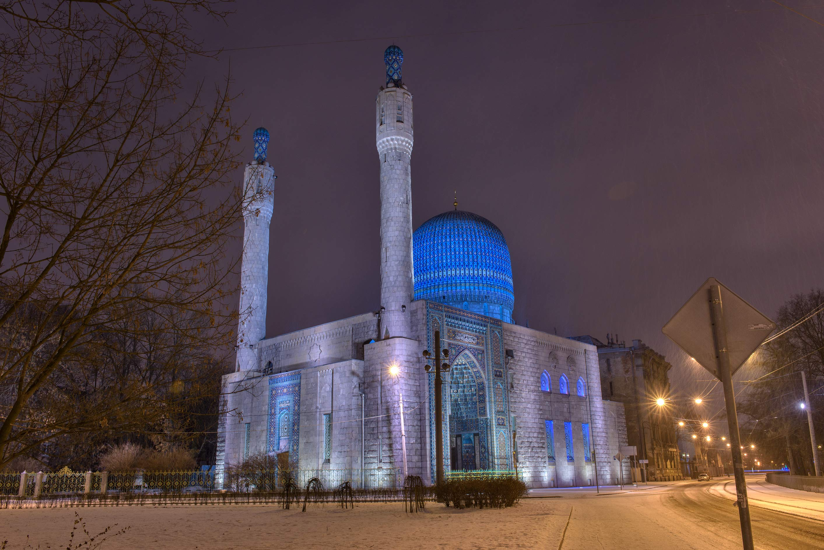 A mosque on Kronverksky Prospect. St.Petersburg, Russia