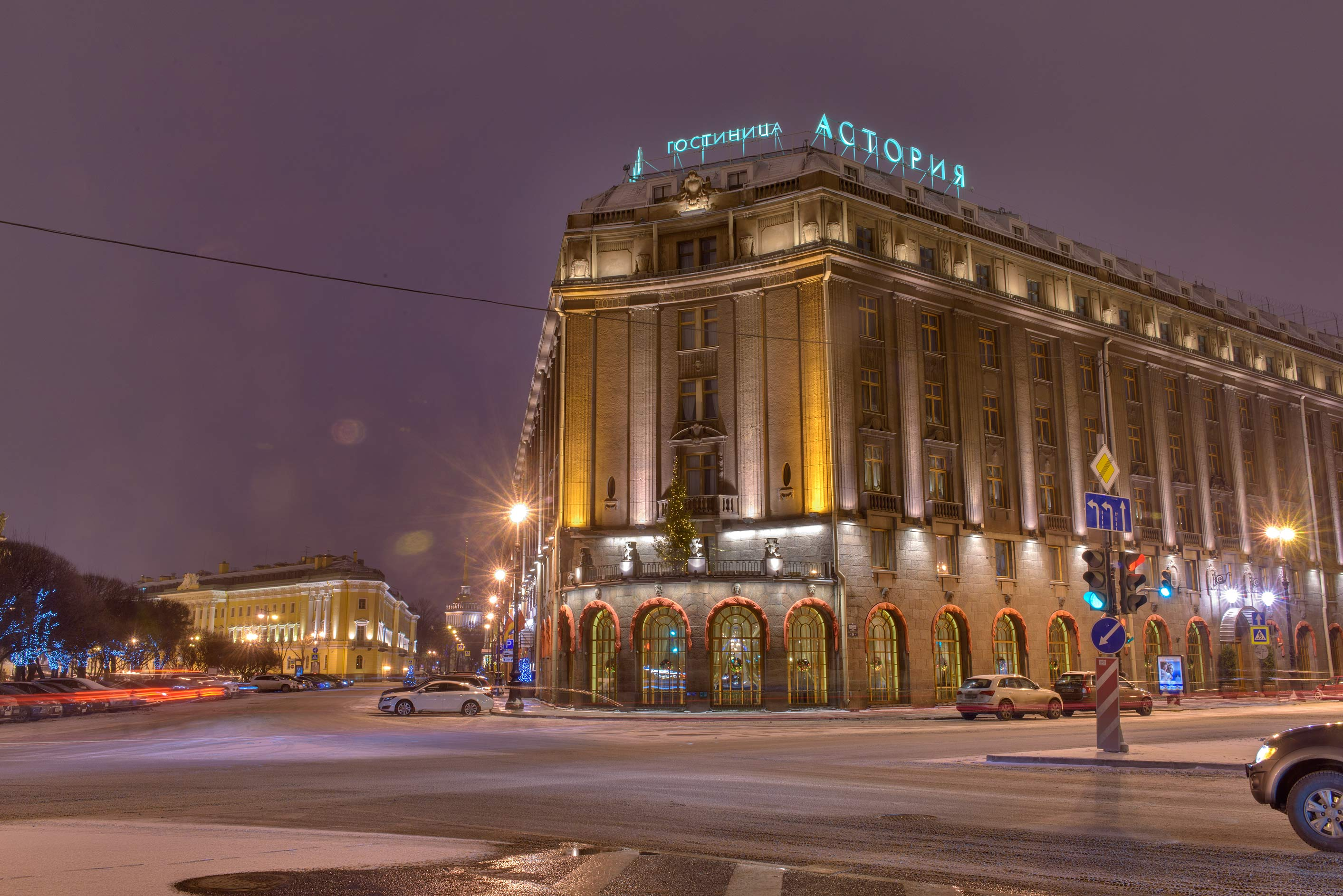 Astoria Hotel on Isakiyevskaya Square. St.Petersburg, Russia