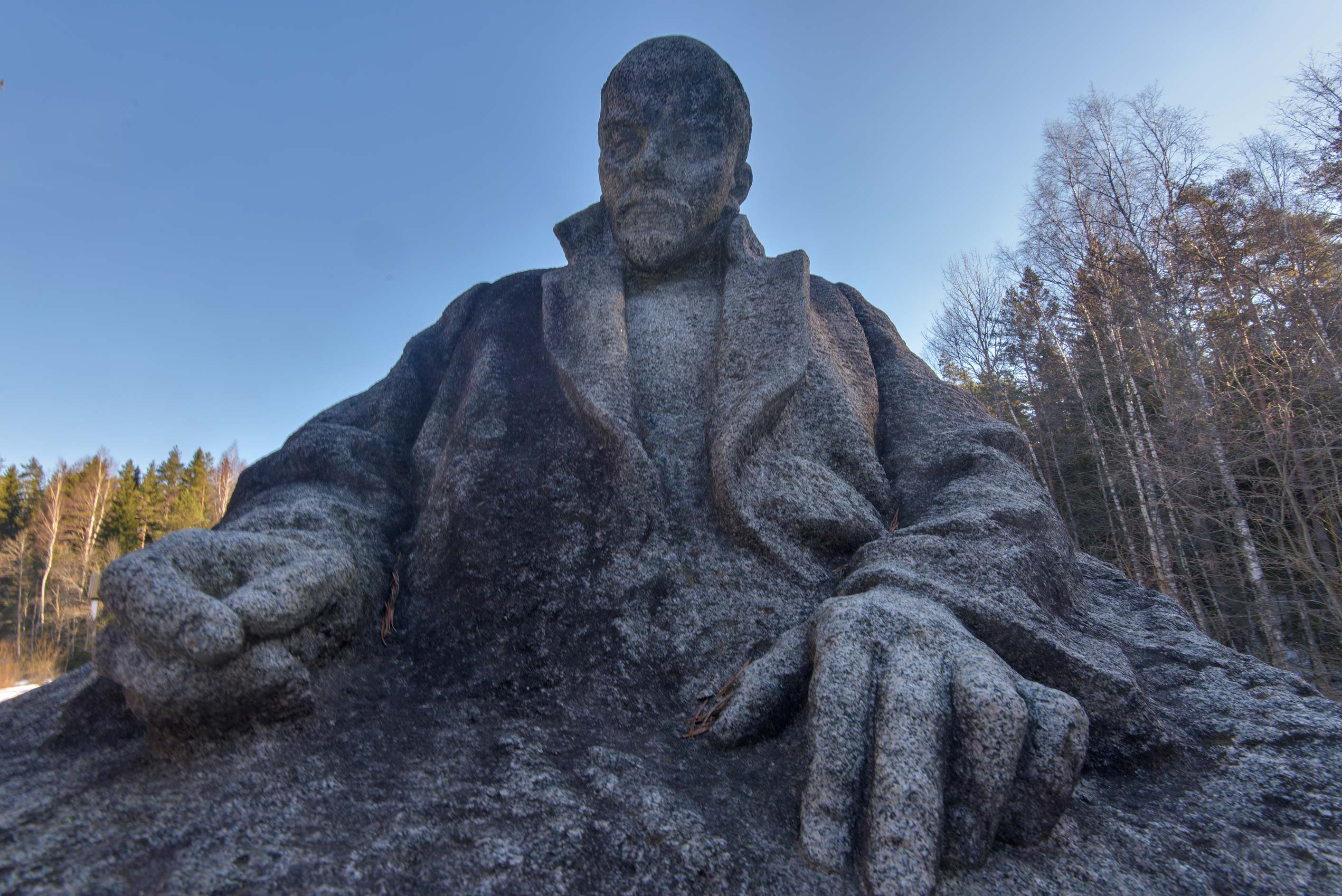 Monument of Russian communist revolutionary...north from St.Petersburg. Russia