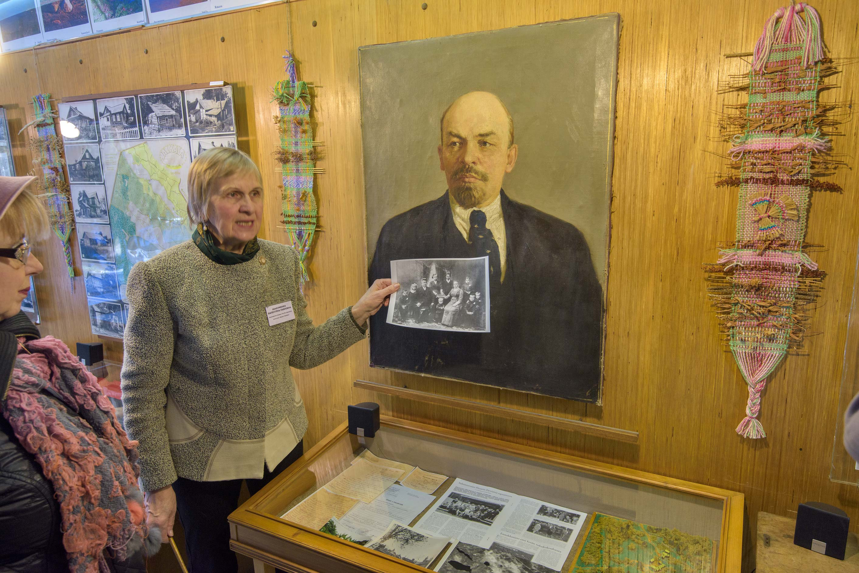 Tour of Lenin's Museum in Jalkala (Ilyichovo), north from St.Petersburg. Russia