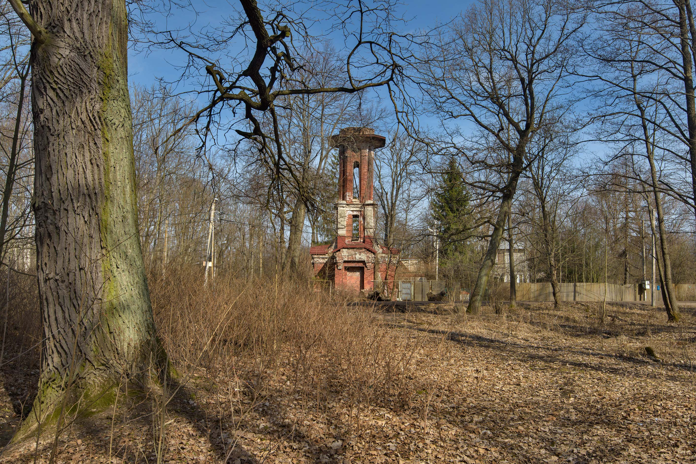 Old water tower of Mordvinov Estate near...west from St.Petersburg, Russia