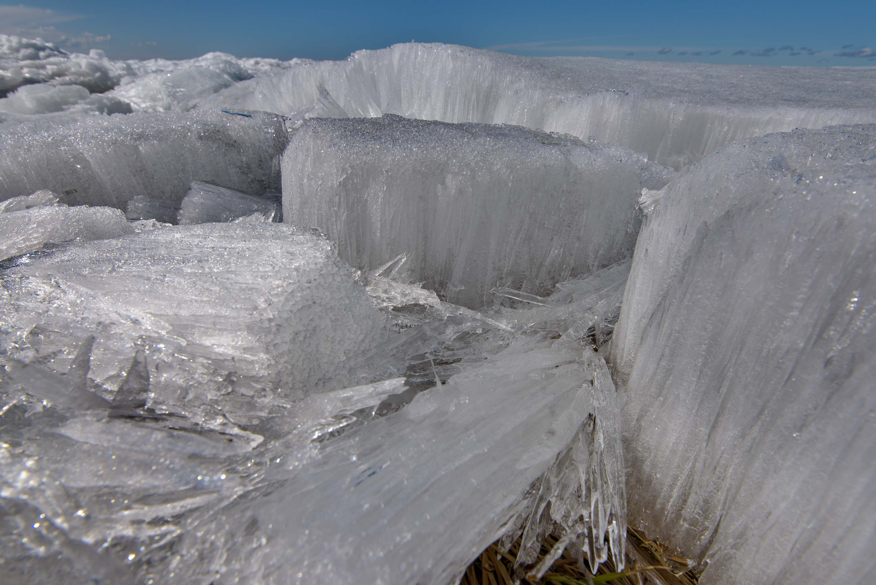 Melting ice field in Gulf of Finland near near...west from St.Petersburg. Russia