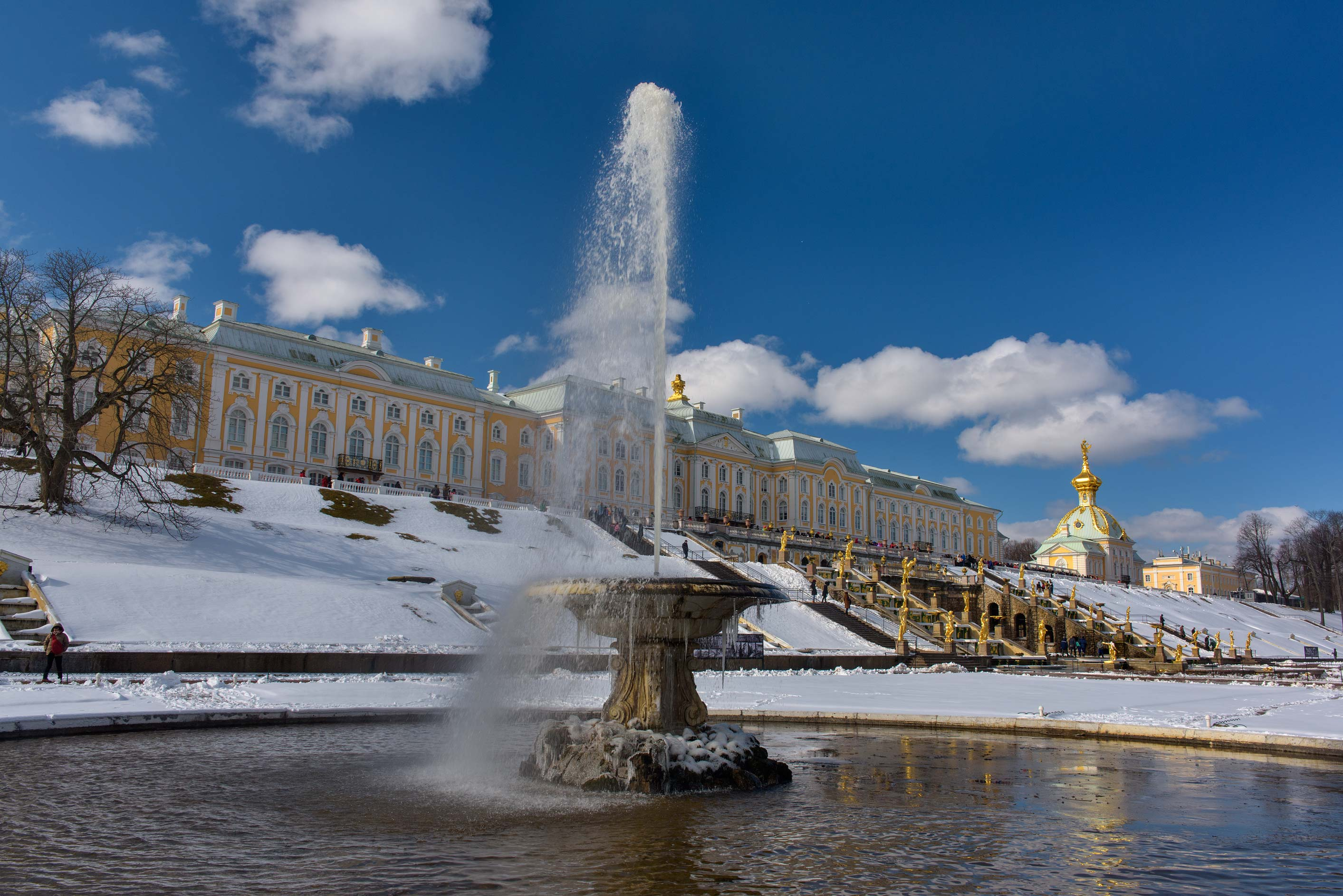 Second Bowl Fountain in Peterhof, suburb of St.Petersburg. Russia