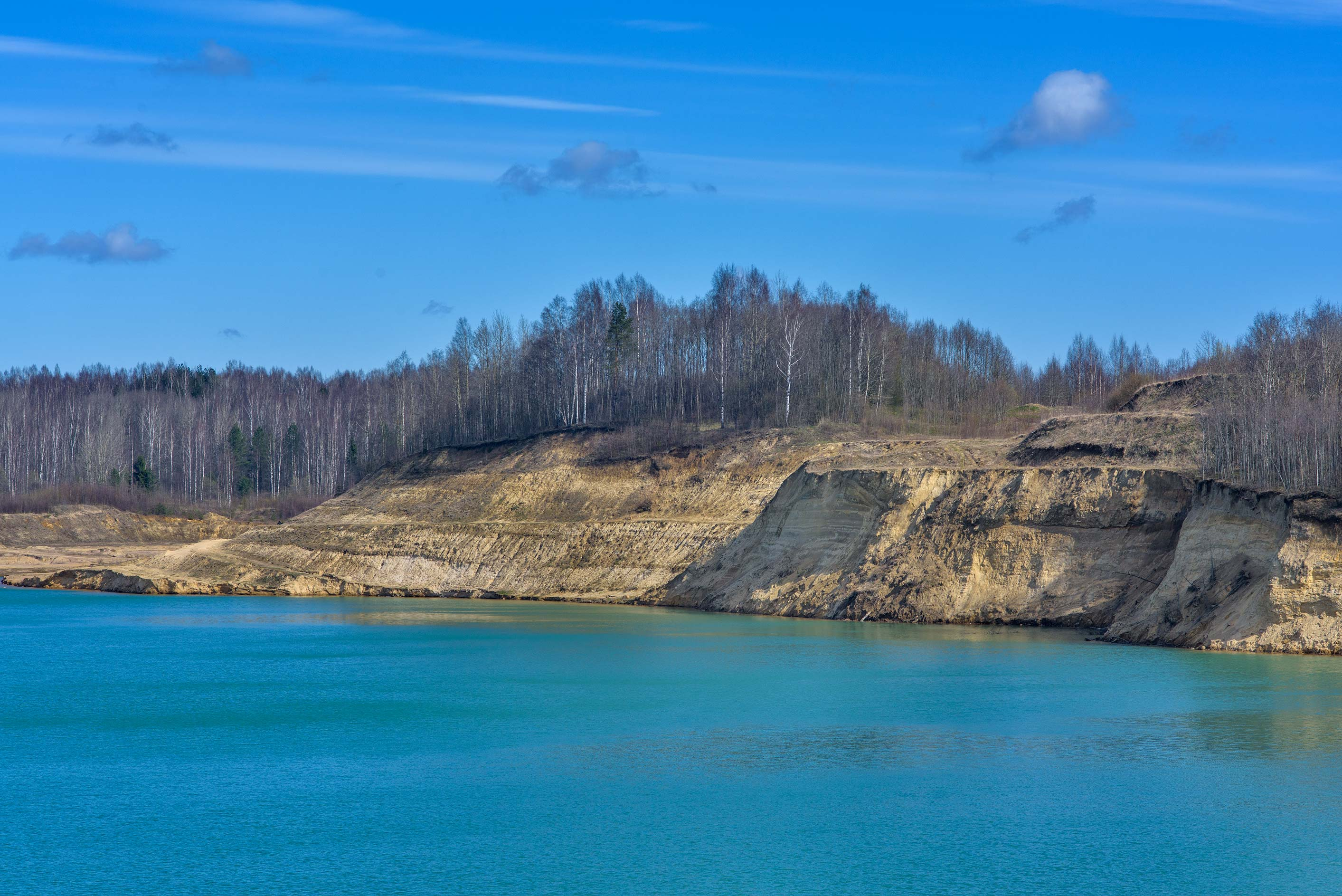 North side of Kuzmolovo Quarry north from St.Petersburg. Russia