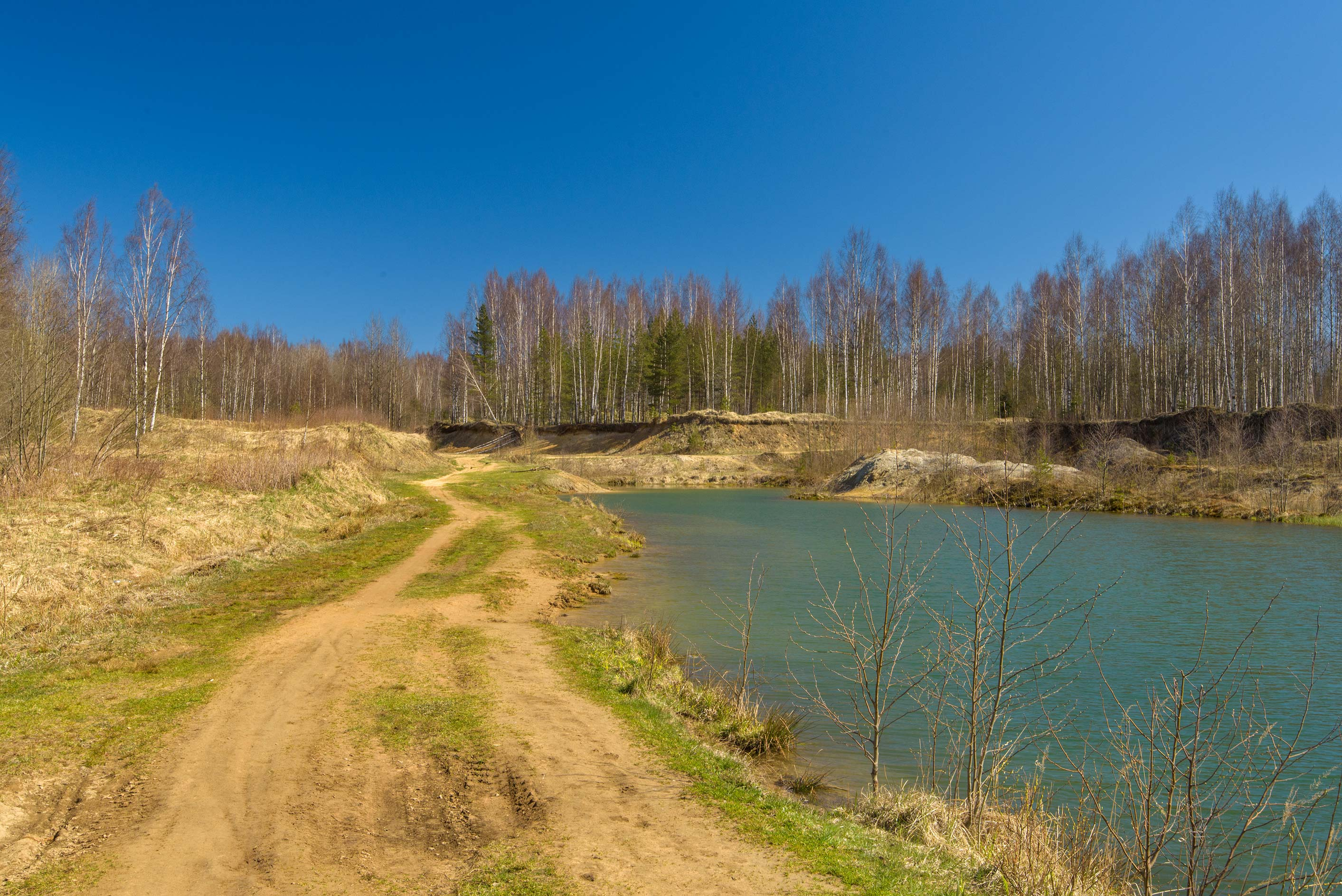 Sand quarry in Kuzmolovo, north from St.Petersburg. Russia