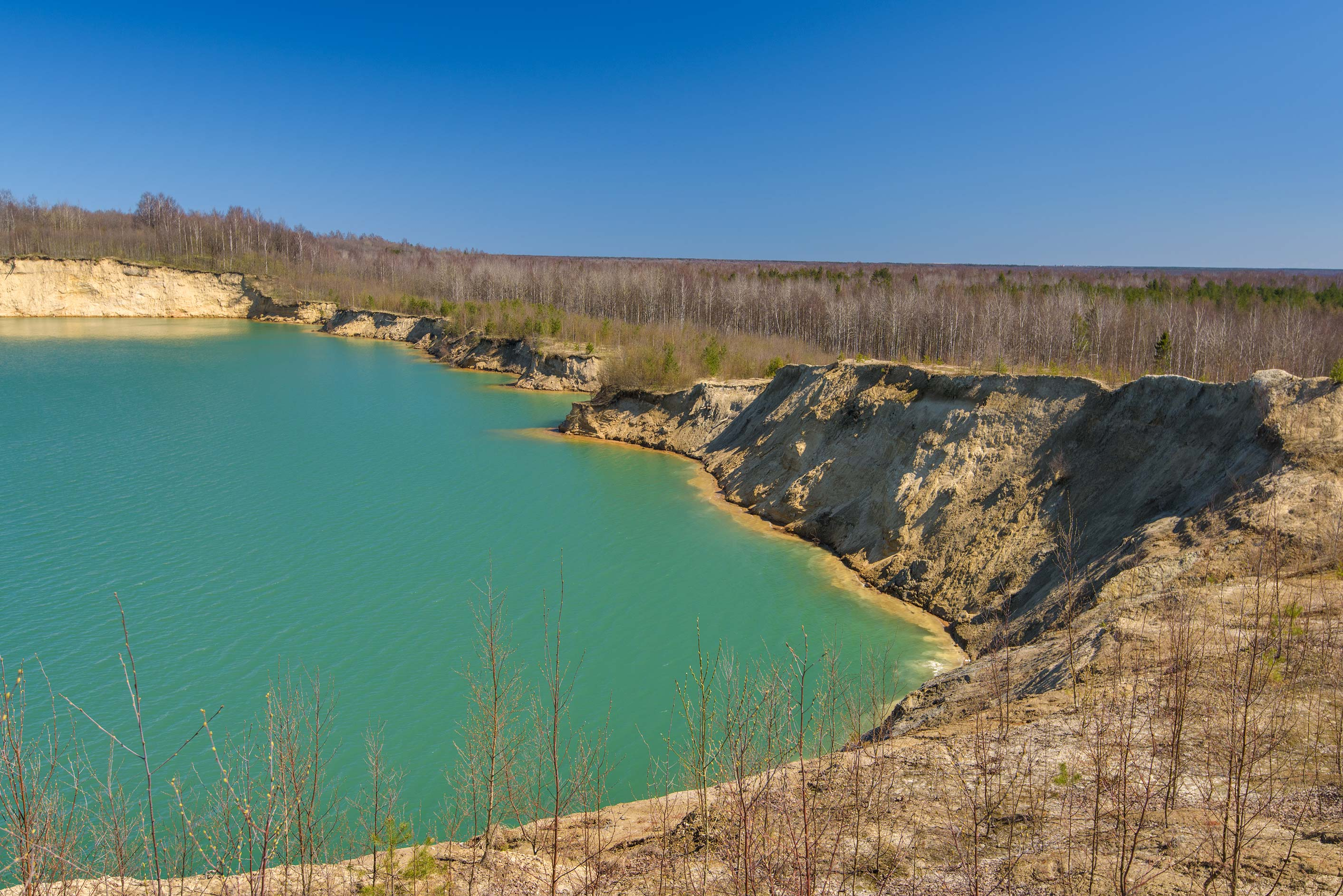 The Quarry in Kuzmolovo, north from St.Petersburg. Russia