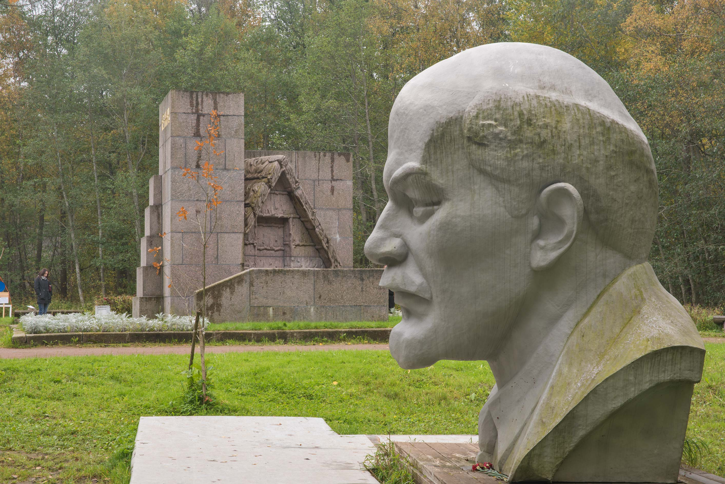 Lenin's Shalash Memorial near Razliv Lake, north-west from St.Petersburg. Russia