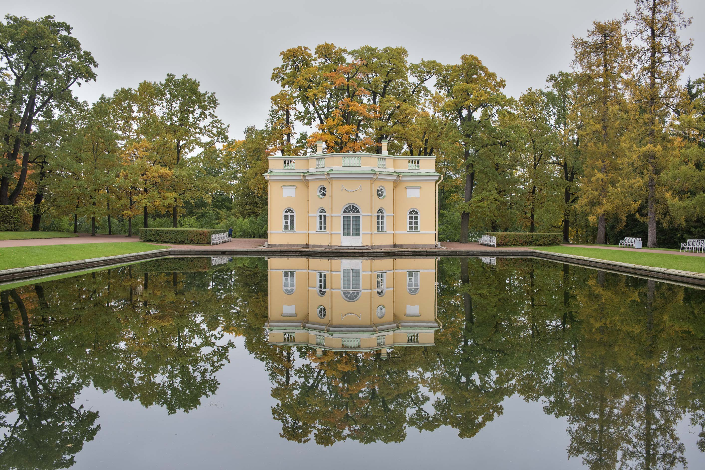 Upper Bath in Catherine Park. Pushkin (former...south from St.Petersburg, Russia