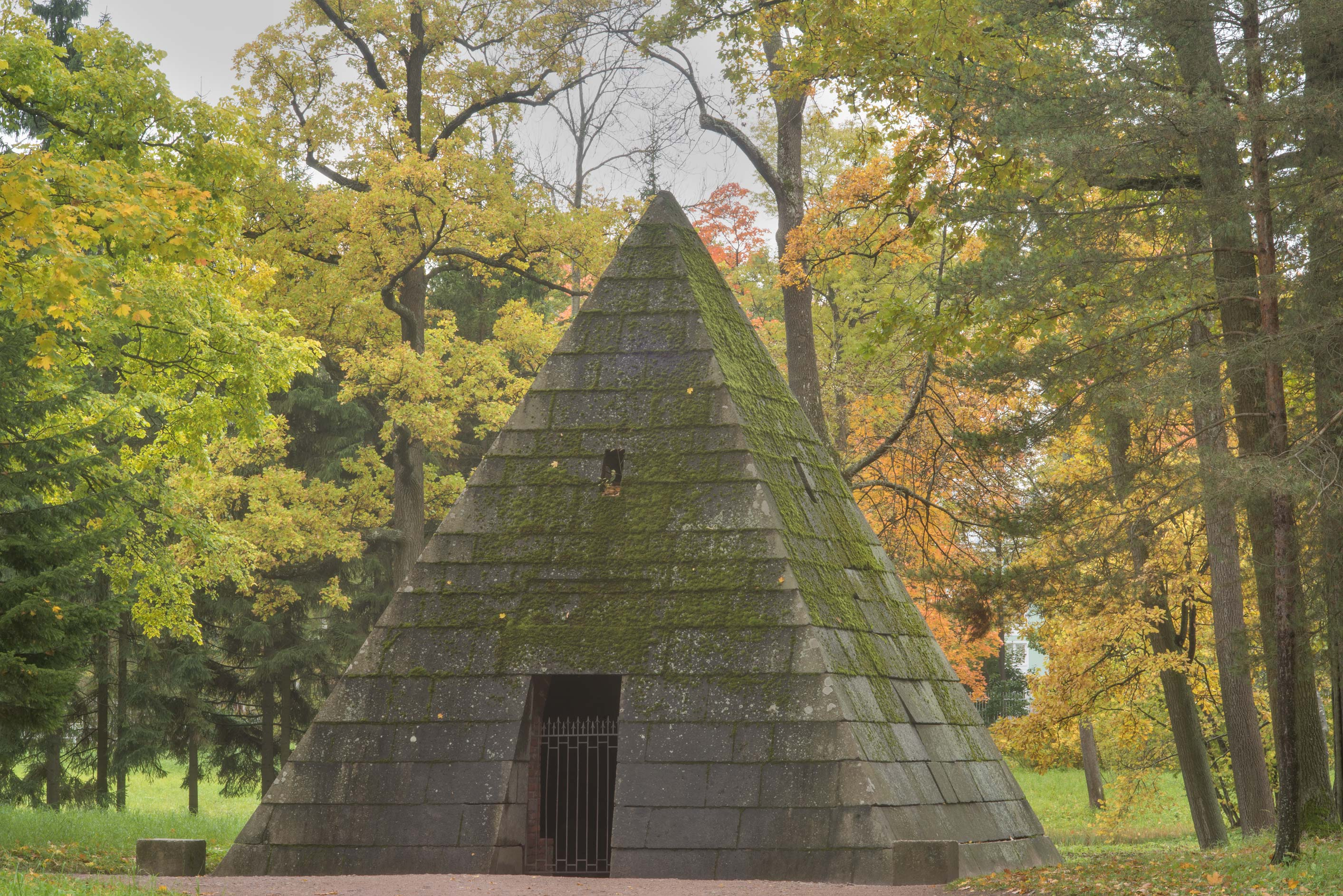 Pyramid near Lebiazhyi Prudki in Catherine Park...south from St.Petersburg, Russia
