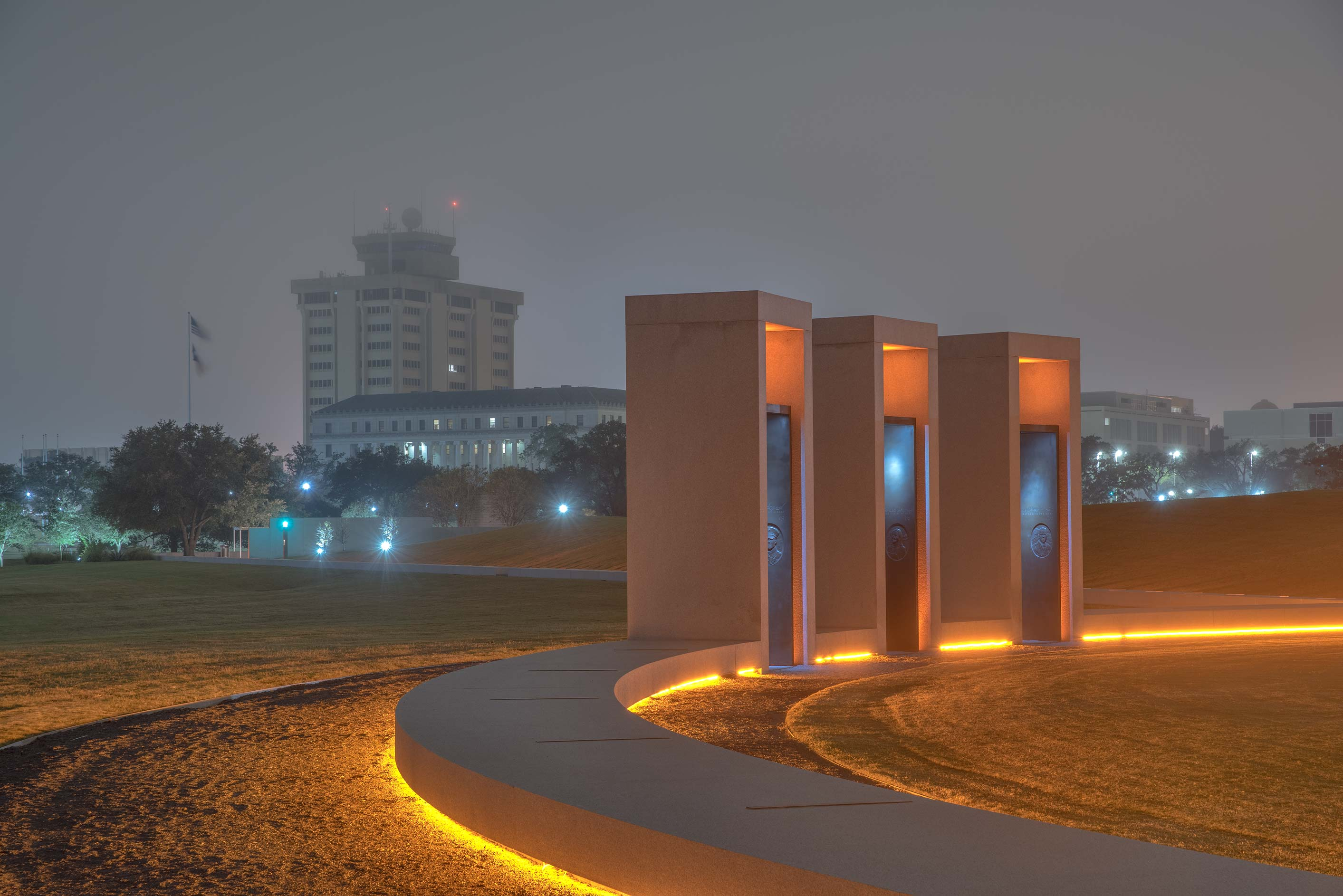 Portals of Bonfire Memorial and Administration...A&M University. College Station, Texas