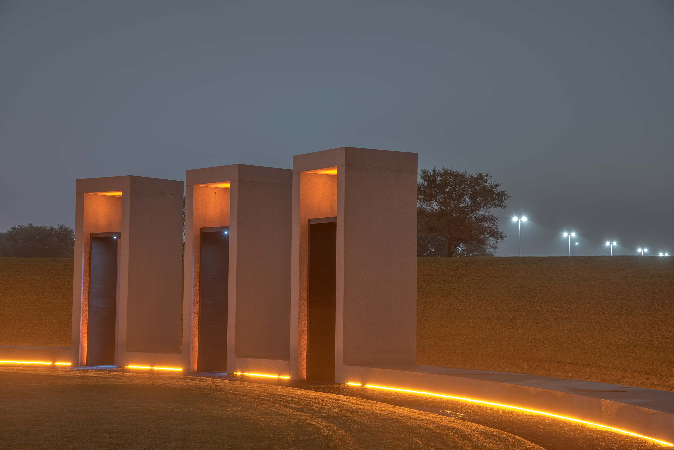 Portals of Bonfire Memorial on campus of Texas A&M University. College Station, Texas