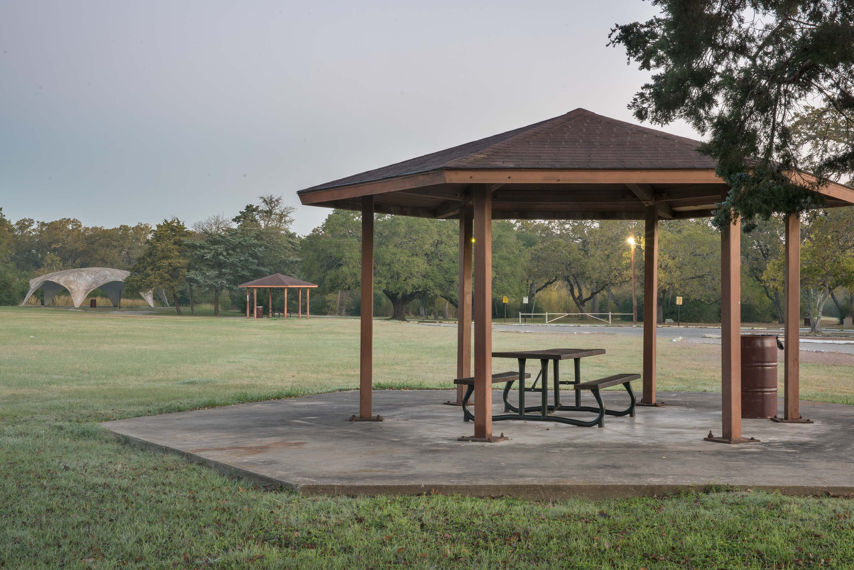 Picnic grounds in Hensel Park. College Station, Texas