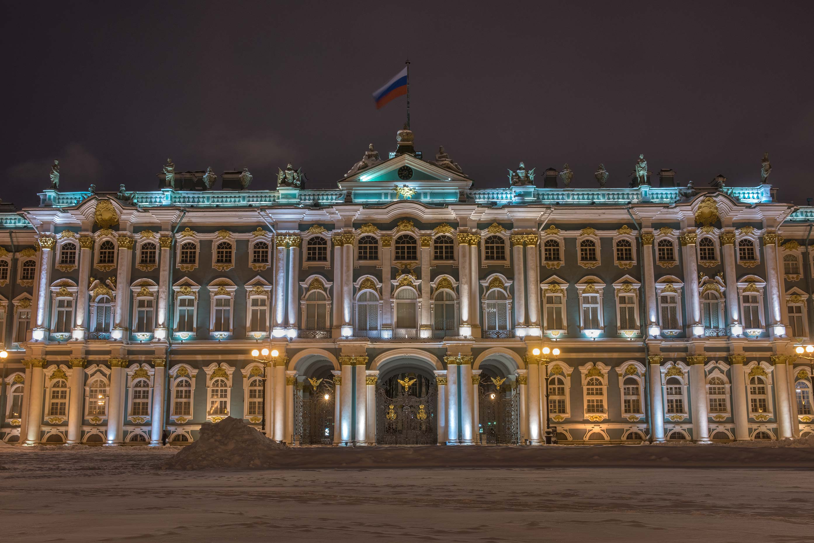 Winter Palace from Dvortsovaya Square. St.Petersburg, Russia