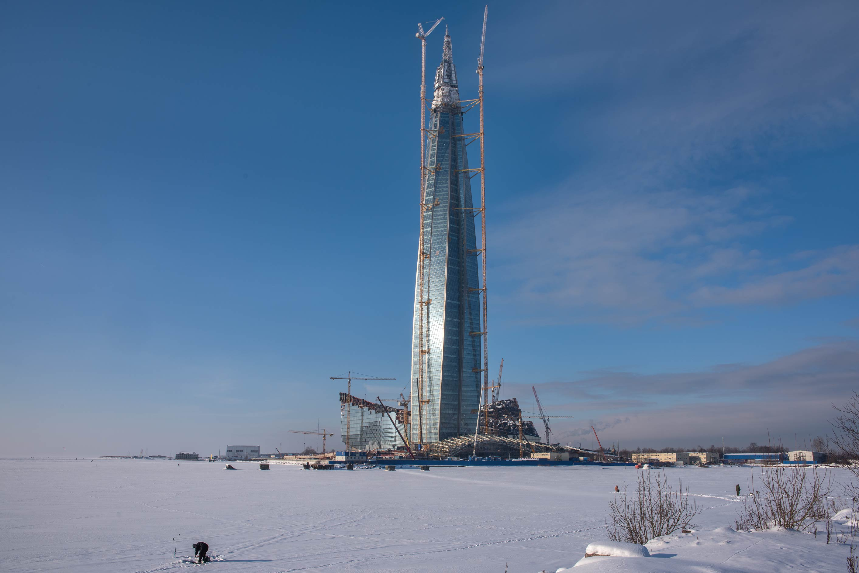 Lakhta Center construction project. St.Petersburg, Russia