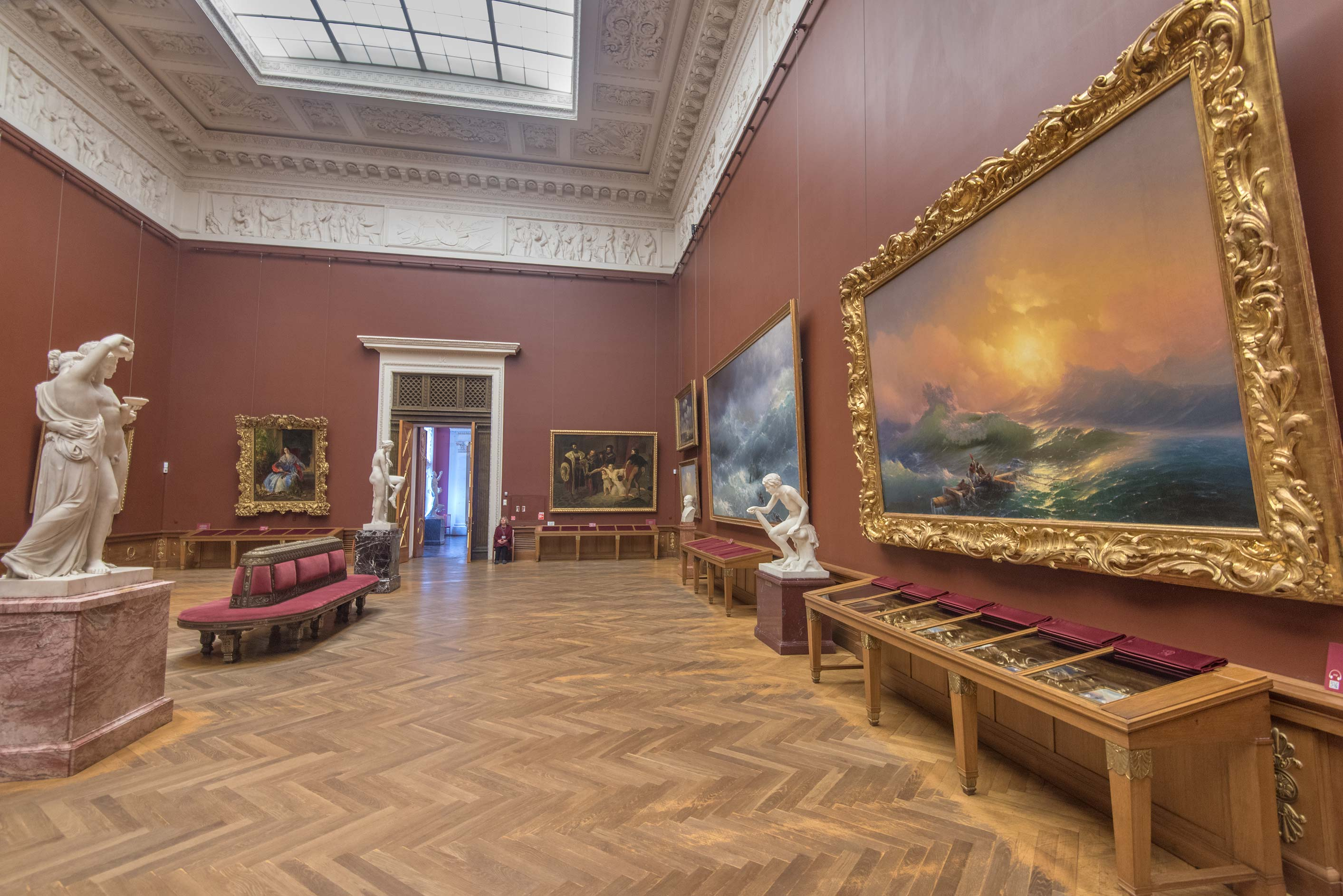 Ayvazovsky Hall in Russian Museum. St.Petersburg, Russia