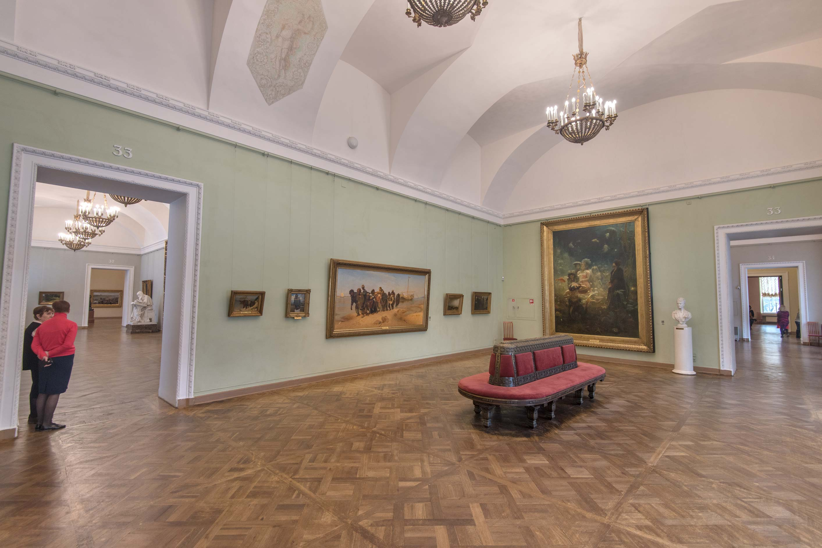 I. Repin's paintings in Russian Museum. St.Petersburg, Russia