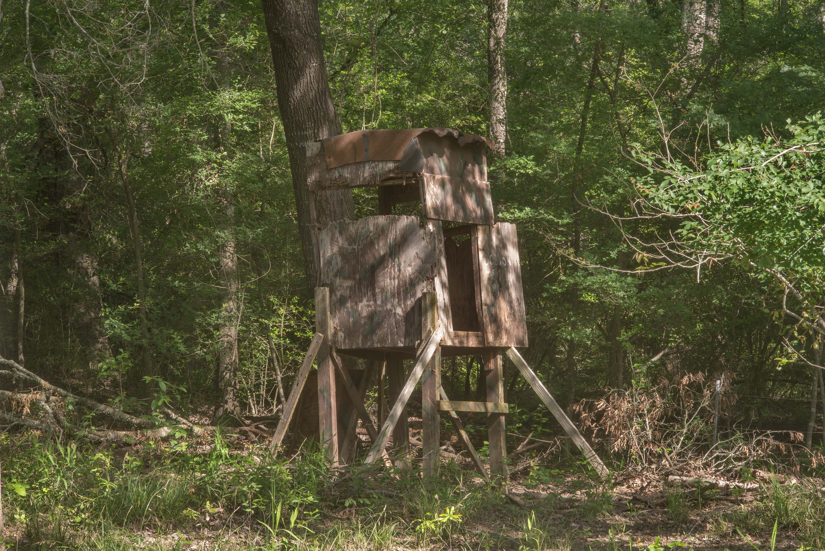Hunter's cabin in Lick Creek Park. College Station, Texas