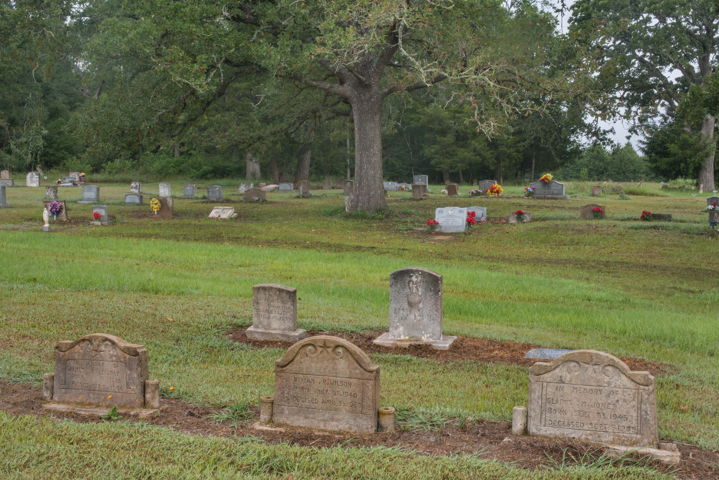 Old tombs in Washington Cemetery. Washington, Texas