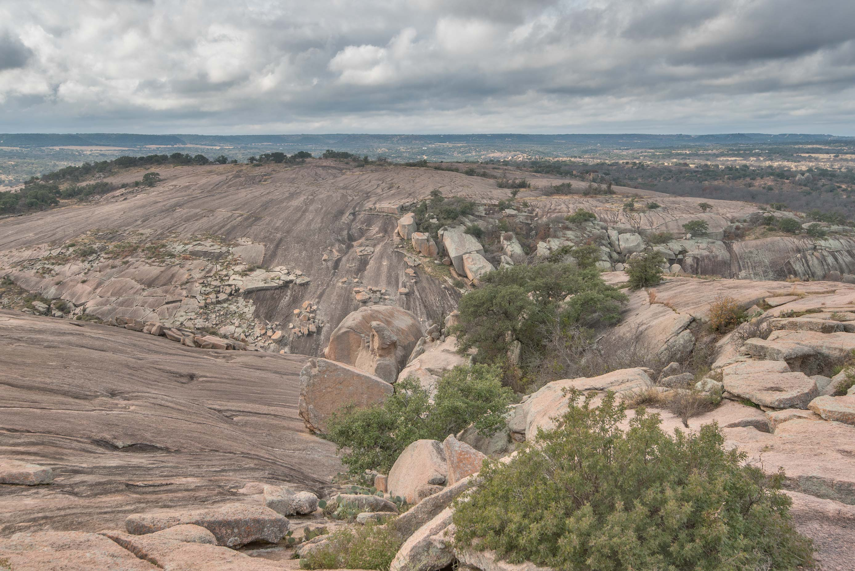 Little Rock from a slope of Enchanted Rock in...Natural Area. Fredericksburg, Texas