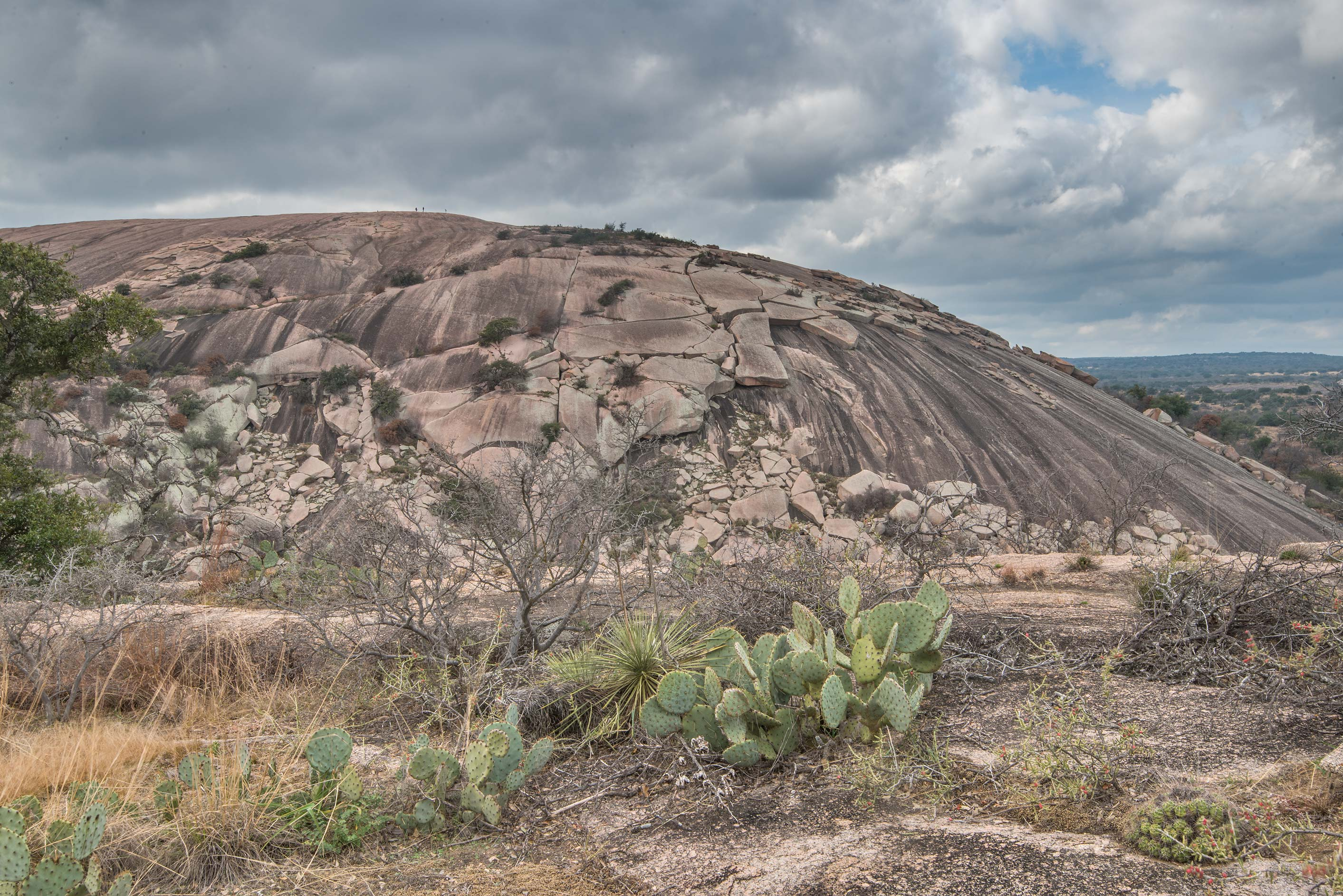 Dome of Enchanted Rock from the top of Freshman...Natural Area, Fredericksburg, Texas