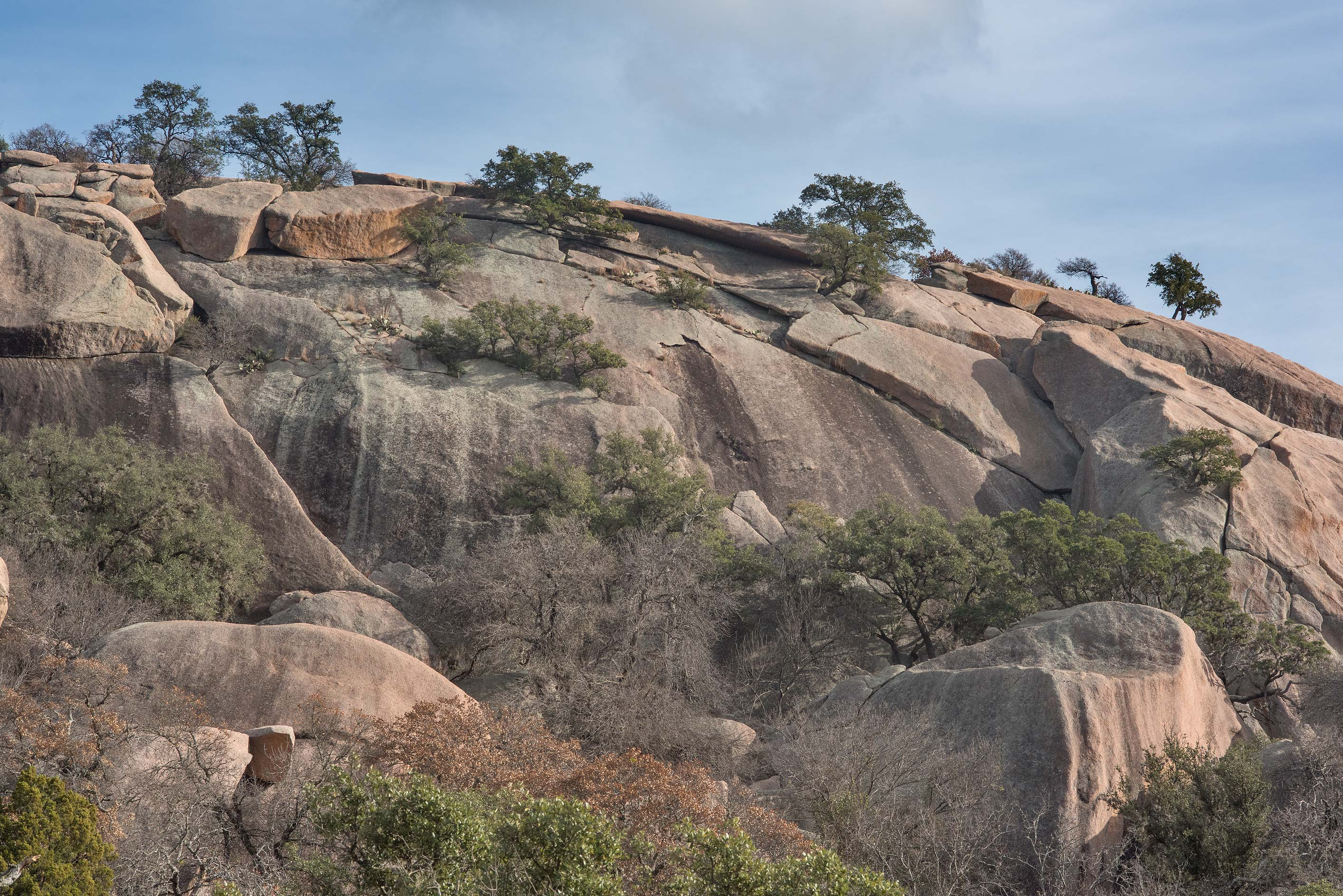 View of the granite dome from Echo Canyon...Natural Area, Fredericksburg, Texas