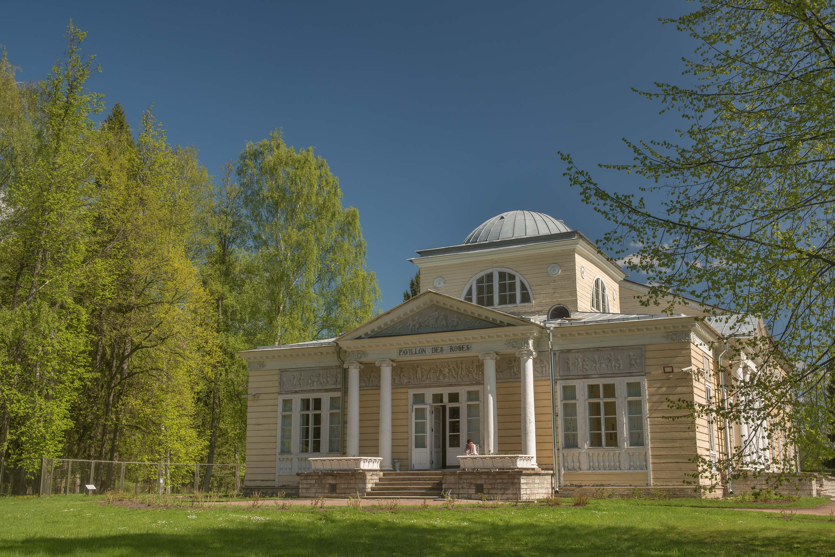 Rose Pavilion from Ninth Parade Alley in Pavlovsk...a suburb of St.Petersburg, Russia