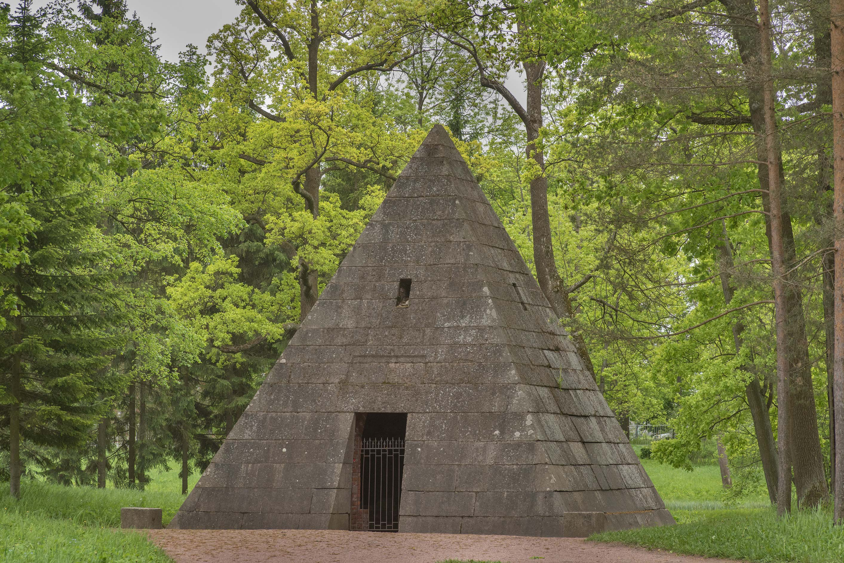 Pyramid (pet cemetery) in Catherine Park. Pushkin...Selo) near St.Petersburg, Russia
