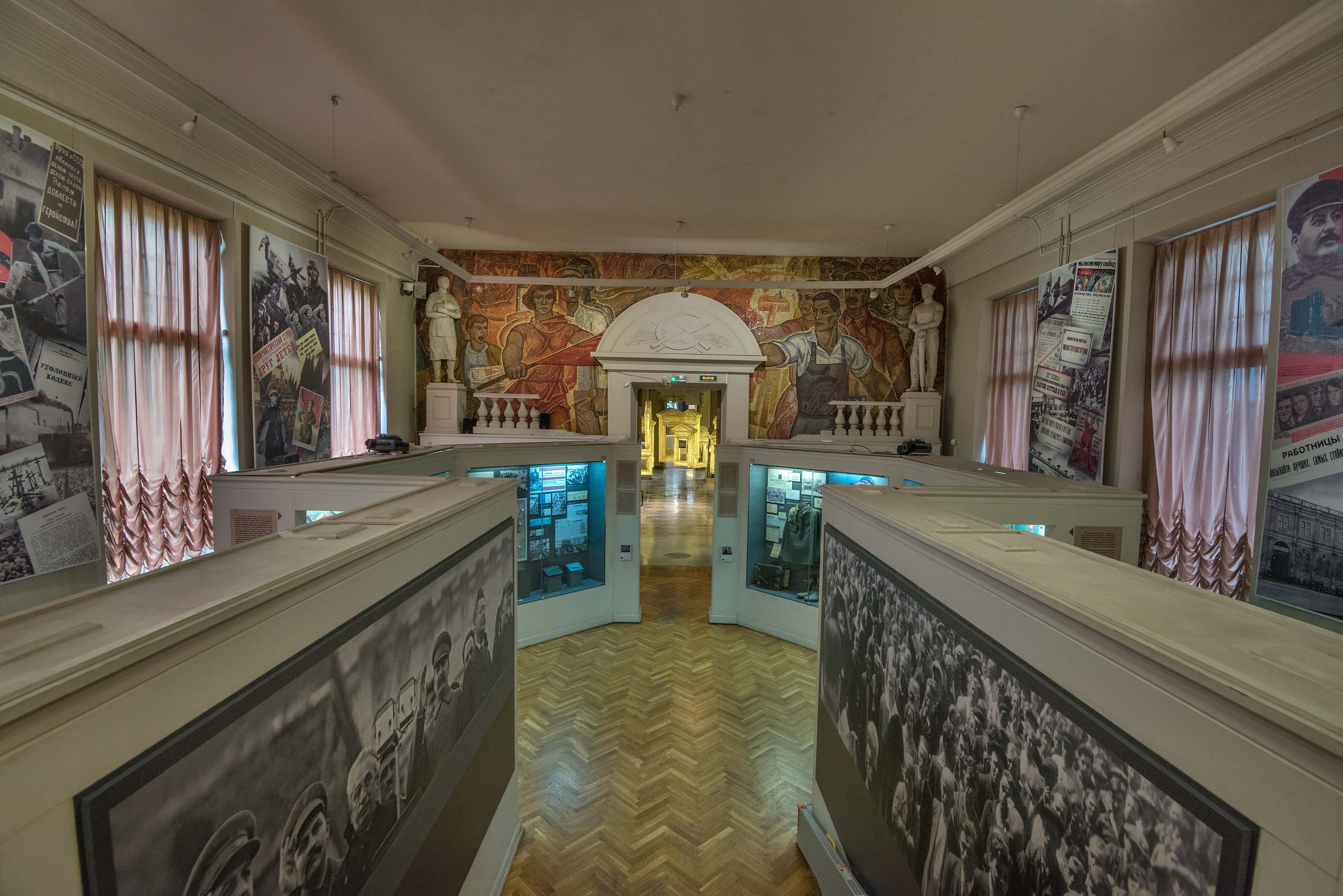 Exhibition hall in Museum of Political History...Mansion). St.Petersburg, Russia