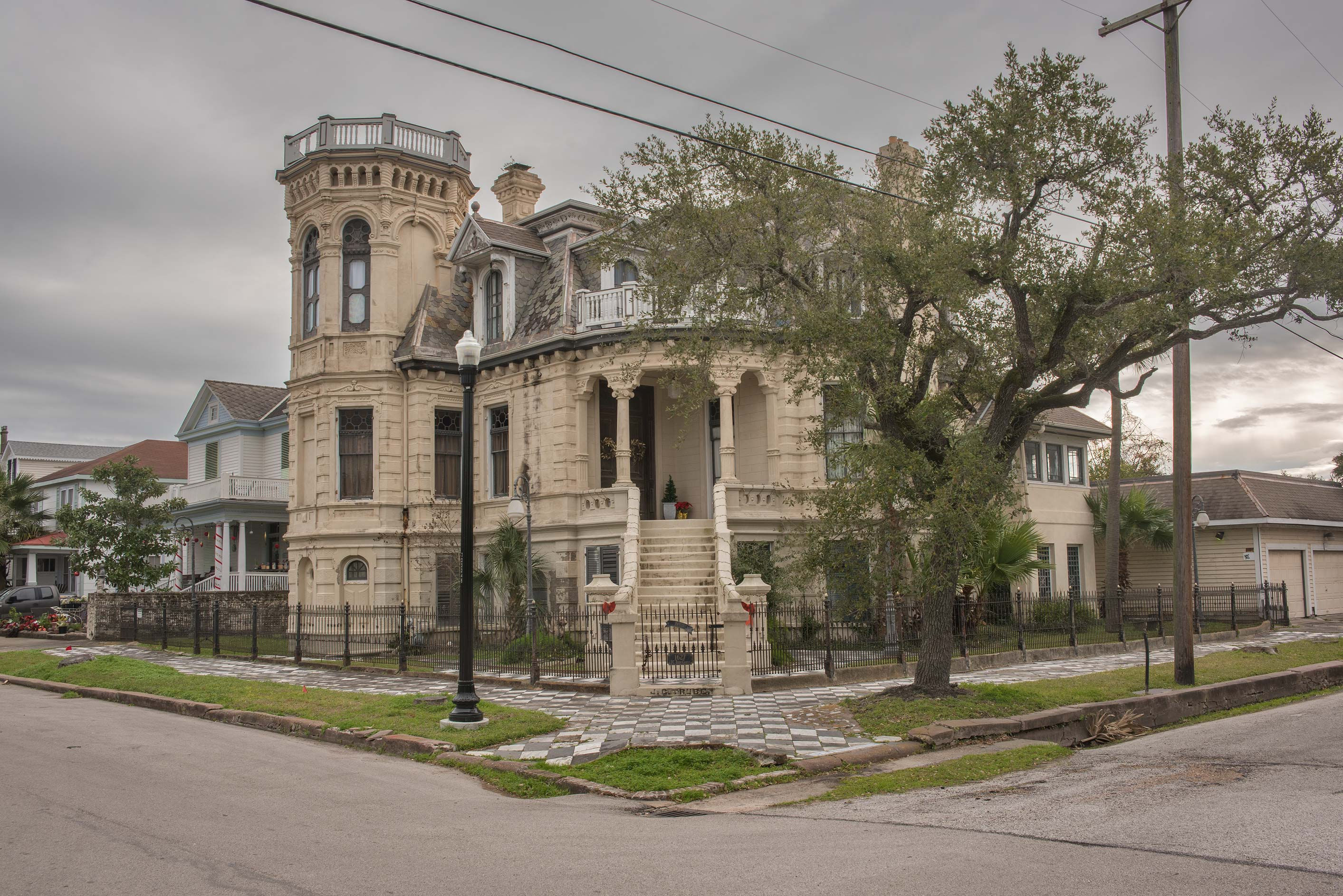 Trube Castle (1890) at 1627 Sealy St., a corner of 17th St. in Galveston. Texas