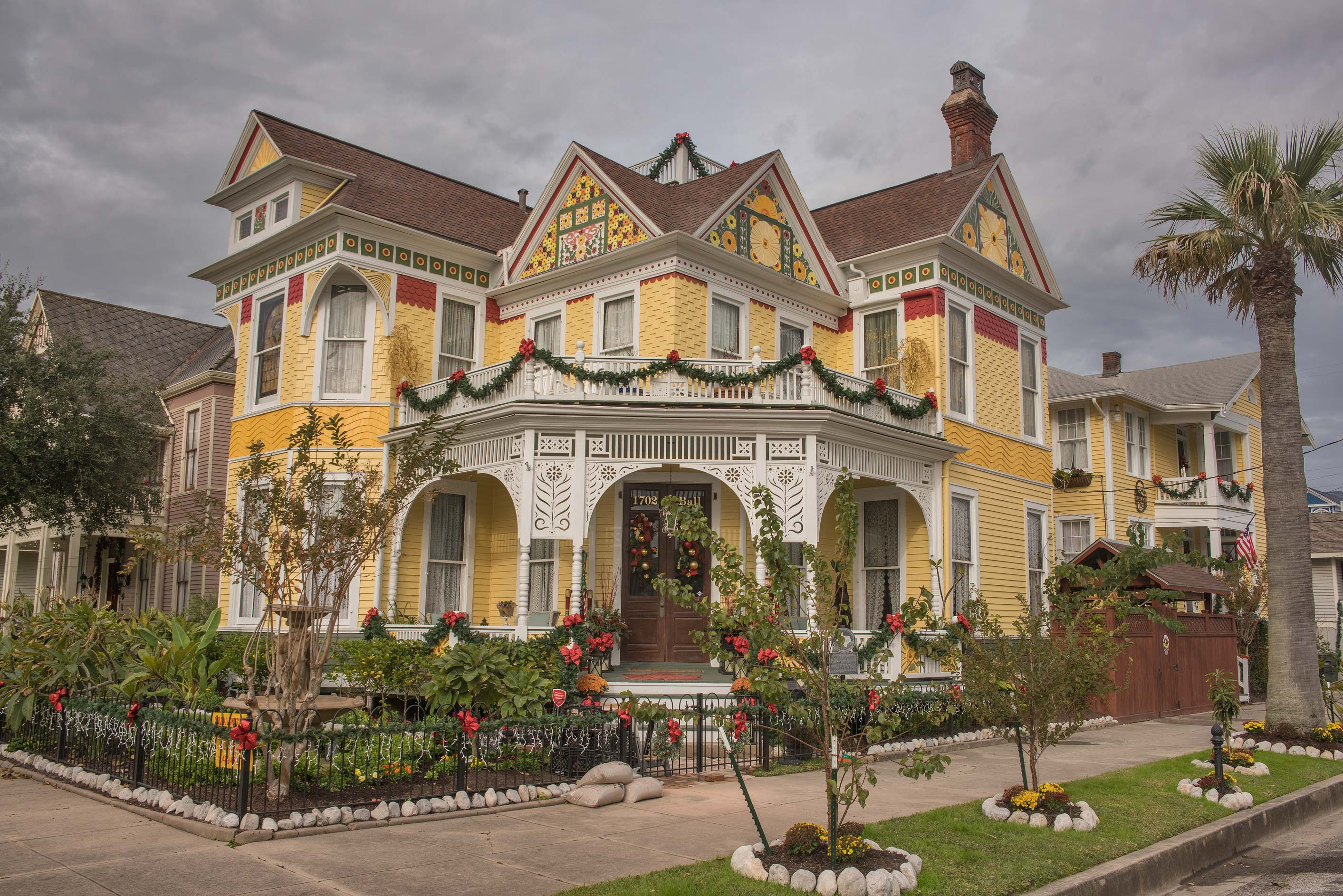 Beissner House (1887) at 1702 Ball St. in East End Historic District in Galveston. Texas