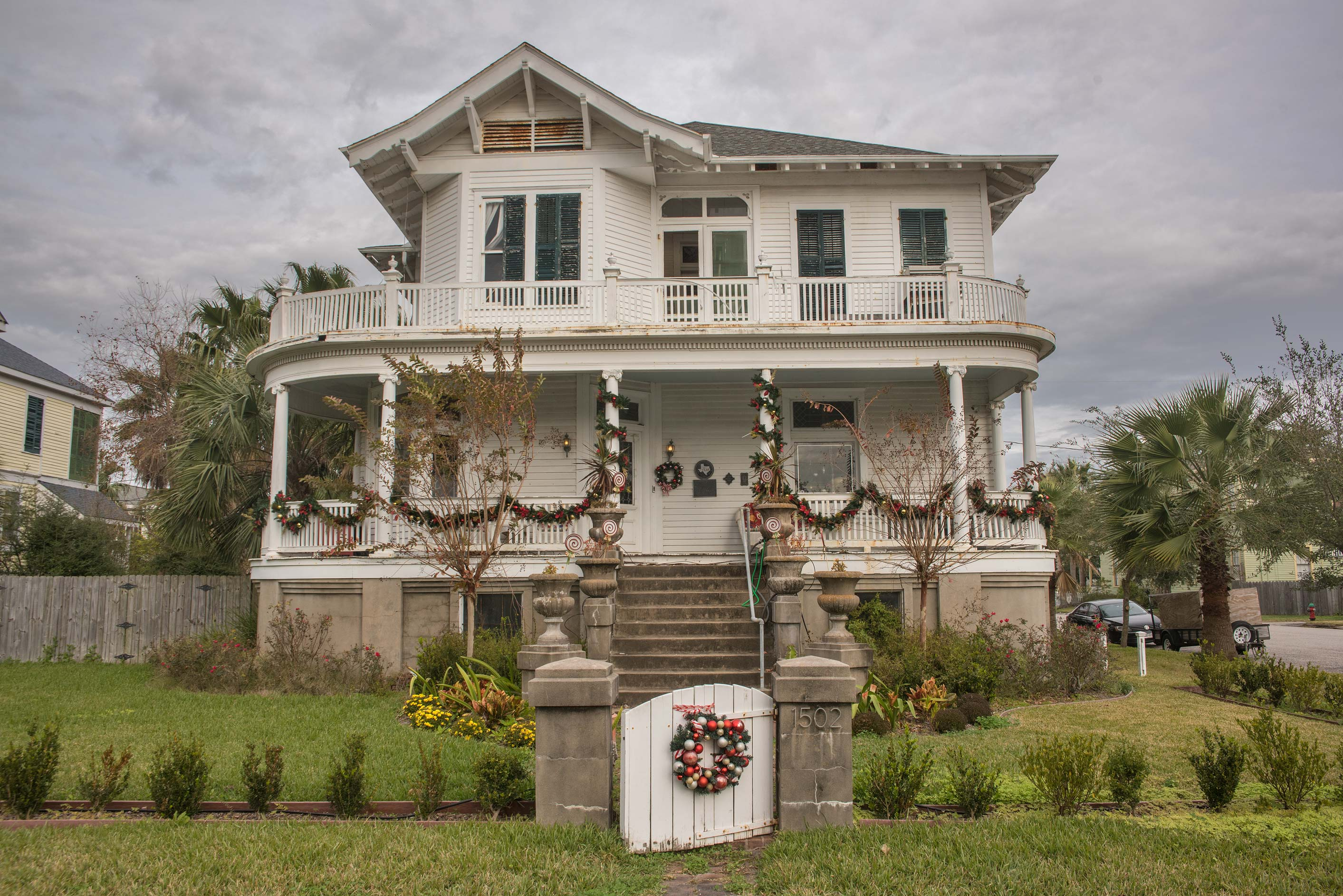 A house at 1428 Ave. H in Galveston. Texas