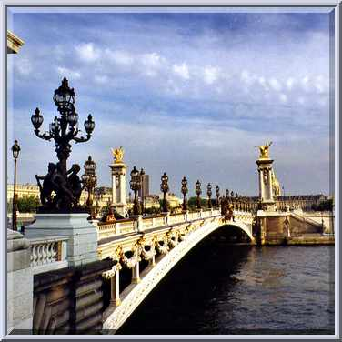 Pont alexandre iii bridge. paris, july 20, 2002