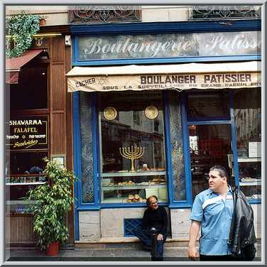 Rue des rosiers. paris, july 25, 2002