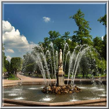 Fountain in peterhof a suburb of saint petersburg russia july 2