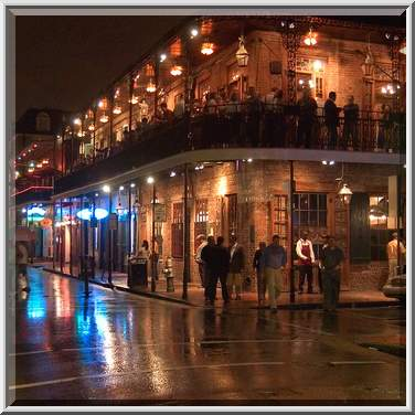 photo 442 26 ember 39 s steak house and restaurant on bourbon rainy evening new orleans louisiana. Black Bedroom Furniture Sets. Home Design Ideas