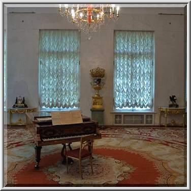 Piano in alexander palace tsarskoe selo pushkin suburb of saint