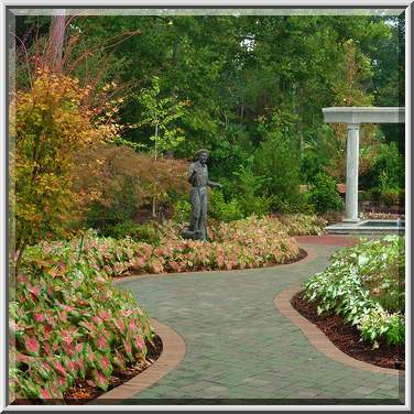 Photo 1112-15: Paved path in Mercer Arboretum and Botanical Gardens ...
