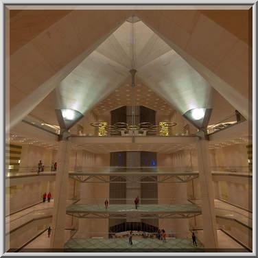 Photo 1330 24 Ceiling Of Atrium Of Museum Of Islamic Art Doha Qatar